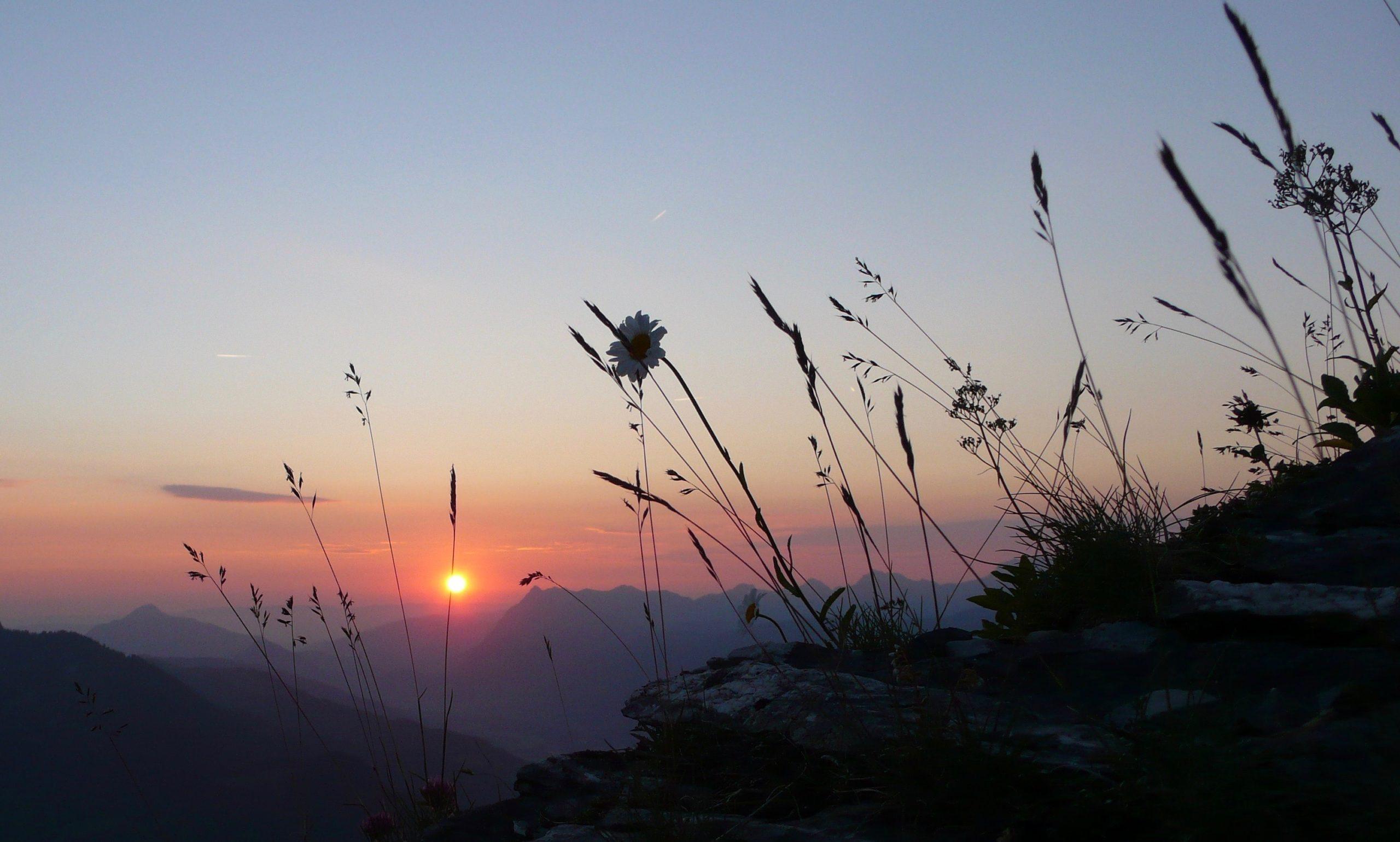 Coucher de soleil du Refuge du Grenairon