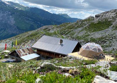 dôme géodésique au refuge du grenairon